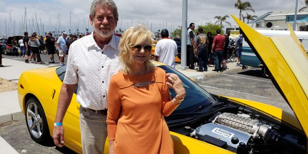 Jerry and Maureen Magnuson  and the Corvette C6